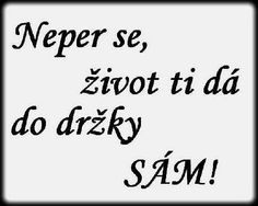 Neper se, život ti dá do držky sám! Carpe Diem, Jokes, Inspirational Quotes, Wisdom, Life Coach Quotes, Inspiring Quotes, Inspiration Quotes, Inspirational Quotes About, Lifting Humor