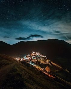 Castelluccio di Norcia, Italy. Situated in the Apennine Mountains of central Italy.