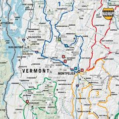 New England road trip mapsuggested routes Travel Pinterest