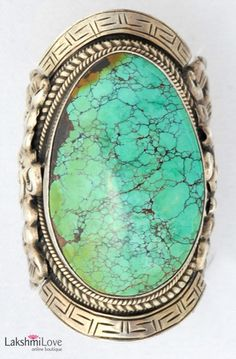 Silver and Turquoise Nepalese Ring, $350.00