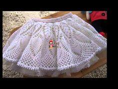 Vestido Olanes para Niña Crochet parte 1 de 3 - YouTube