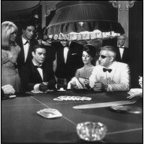 A scene from the James Bond film 'Thunderball' with Sean Connery, Claudine Auger and Adolfo Celi. (Photo by MacGregor/Getty Images)Image provided by. Sean Connery, James Bond, Movie Tv, Casino Theme Parties, Casino Party, Casino Night, Claudine Auger, Casino Costumes, Movies