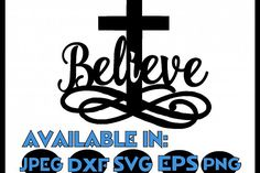 Easter svg SVG DXF JPEG Silhouette Cameo Cricut Jesus svg iron on Believe svg He is risen shirt Cross svg - Easter svg SVG DXF JPEG Silhouette Cameo Cricut Jesus svg iron on Believe svg He is risen shirt Cross svg example image 1 - Cross Silhouette, Silhouette Cutter, Silhouette Images, Silhouette Design, Easter Religious, Religious Cross, Cute Tshirt Designs, Cross Shirts, Easter Cross