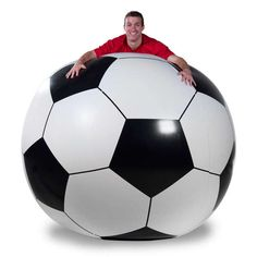 The Giant Soccer Ball Brings a Whole New Dimension to the Sport #worldcup #soccer trendhunter.com