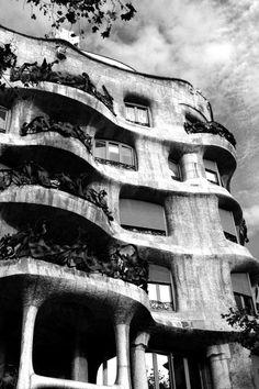 Gaudi House Barcelona 6x9 by LindseyBee on Etsy, $13.50