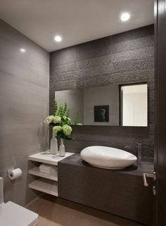 renovation and renovation Modern toilet design for small bathroom ideas - Home and Garden Decoration Contemporary Bathroom Designs, Bathroom Layout, Modern Bathroom Design, Bathroom Interior Design, Bathroom Ideas, Modern Contemporary, Modern Toilet Design, Bathroom Inspo, Bathroom Remodeling