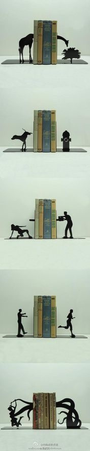 whimsical, fun bookends!