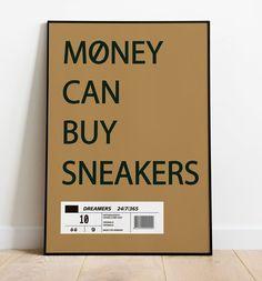 Sneaker Quotes, Sneaker Posters, Girl Posters, Room Posters, Room Ideas Bedroom, Bedroom Decor, Hypebeast Room, Sneakers Wallpaper, Sneaker Bar