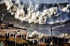 WAVES IS NAZARÉ, PORTUGAL !!!