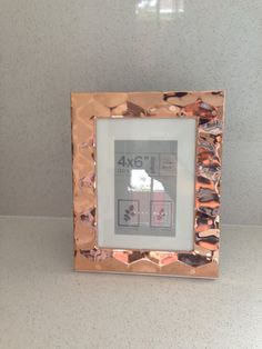 Rose Gold Picture Frame Copper Photo Frame Copper by LaViePeinte