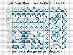 Dit is het derde deel van de Delfts Blauwe SAL.   Het komt naast deel 2, kijk aub even op het raster van de 12 delen, beneden.     This is t...