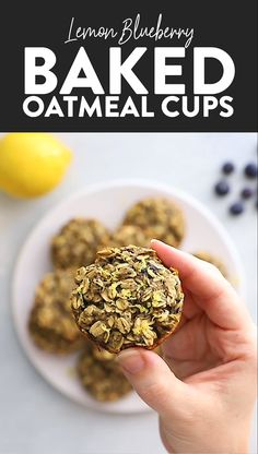 The tastiest little baked oatmeal cups you ever did see. Your tastebuds are going to go wild for these healthy Lemon Blueberry Oatmeal Cups. #bakedoatmeal #oatmeal #glutenfree #breakfast #mealprep #healthyrecipe #recipevideo