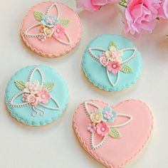 Cookies..... but they are too pretty to eat! LOL