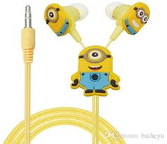 EP338 Despicable Me Minions Cartoon Earphone In-ear Wired 3.5 Mm Headphone Headset for Earphone for Mobile Phone MP3 MP4 Wholesale Online with $20.32/Piece on Baiheyu's Store | DHgate.com