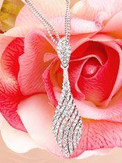 Two strand Wedding Necklace with Elegant Crystal Swirls