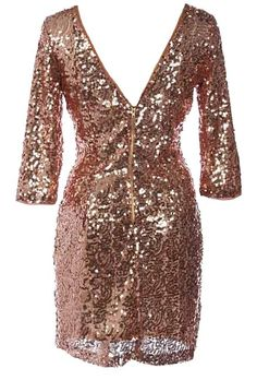 Infinite Galaxy Dress: Features an elegant scoop neck with sexy V-design to the rear, well-tailored elbow length sleeves, hundreds of glittering sequin pieces covering the entire dress, and a sleek form-fitting silhouette to finish.