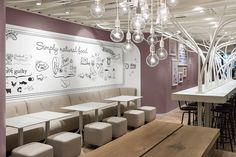 This interior is so rad in so many ways. not guilty restaurant by Ippolito Fleitz Group Zurich Switzerland