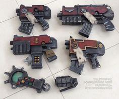 Warhammer 40K bolt gun props auspex prop 40K grenade prop
