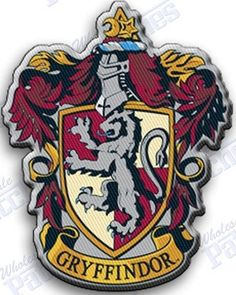GRYFFINDOR iron on embroidered patches patch harry potter hogwarts   | autosportspatches - Accessories on ArtFire #ckdin