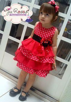 Vestido Minnie vermelho tiara pulseira