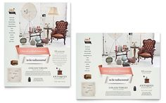 Antique Mall Poster Template Design | StockLayouts
