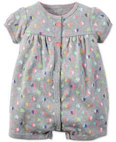 Carter's Baby Girls' Multicolor Heart-Print Creeper