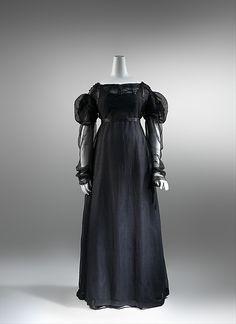 regency mourning dress - 1820