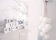 ake some wooden blocks and paint them white and write your own personal Christmas wishes on them