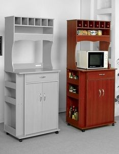 Modern Microwave Cart With Wine Storage, Storage Drawer And Shelves In  Cherry Wood Finish By Acme Furniture 2325