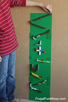Lego building challenge - create a Lego marble run! Video demonstration in the post.
