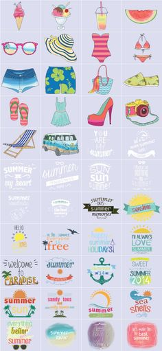 Summer Lovin' Clipart Is Here for those Who Love Summer!