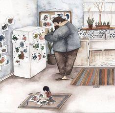 L'Amour entre les Pères et leurs Filles illustré par Snezhana Soosh (21)