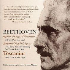 Beethoven: Quartet, Op. 135 - Symphony No. 9-Ludwig van Beethoven-Music and Arts Programs of America