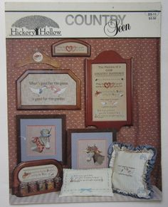 Counted Cross Stitch Pattern Country Seen Marriage Sampler