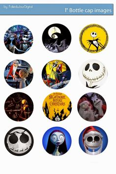 Free Bottle Cap Images: The nightmare before Christmas free bottle cap images