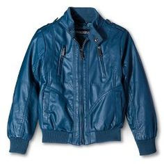 Urban Republic Boys' Faux Leather Racing Jacket