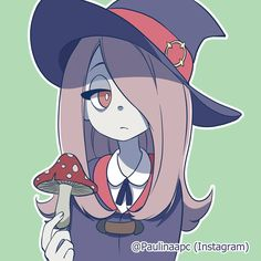 Anime:Little Witch Academia Name:Sucy Manbavaran if you couldnt tell she likes mushrooms Little Witch Academia Characters, Little Wich Academia, My Little Witch Academia, Lwa Anime, Cartoon Witch, Witch Drawing, Magical Girl, Anime Love, Steven Universe