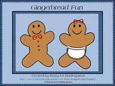 Kindergarten Gingerbread Man Unit - aligned to common core standards