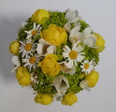 Kullerkupp (Trollium); piimalill (Euphorbia); härjasilm (Leucanthemum); ülane (Anemone)