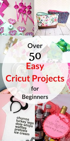 Over 50 Easy Cricut Projects For Beginners 2019 New to Cricut? These 50 projects are SUPER easy to make and great for both beginners and seasoned Cricut users. The post Over 50 Easy Cricut Projects For Beginners 2019 appeared first on Scrapbook Diy. Fun Crafts, Diy And Crafts, Crafts For Kids, Paper Crafts, Creative Crafts, Hero Crafts, Preschool Crafts, Sewing Projects For Beginners, Diy Projects