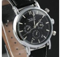 JARAGAR Automatic Mechanical 6 Hands Crystal Diamond Womens Mens Watches