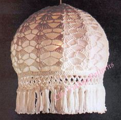 Hey, I found this really awesome Etsy listing at https://www.etsy.com/listing/218306941/crochet-lampshade-1970s-pdf-crochet