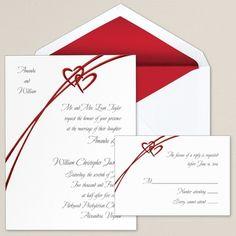 Soaring Hearts Wedding Invitation - Heart Wedding Invitations