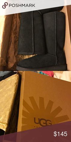 Brand new uggs Brand new. Size 7. Can fit a 7.5 & a narrow 8. IF NOT SOLD WITHIN THIS WEEK, I WILL START WEARING THEM UGG Shoes Winter & Rain Boots