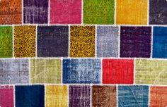 Vintage Patchwork Teppich - mozaiik Unikat Nr. 51TP