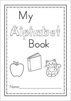 Alphabet Book Cover Page | Preschool-ABC(Letters) | Book ...