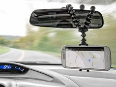 Who needs built-in GPS, or for that fact, any GPS when you can hang your iPhone or Android from your rear view mirror and use GPS on that? #gps, #ipod, #android http://www.lizblogs.com