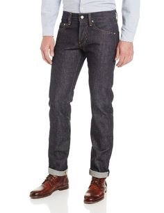 AG Adriano Goldschmied Mens Matchbox Slim Straight Leg Jean in Gauge Raw Selvage, Gauge Raw Selvage, 36