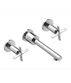 Vessel Faucets- Percy Wall Mount Vessel Bathroom Faucet with Cross Handles from DXV