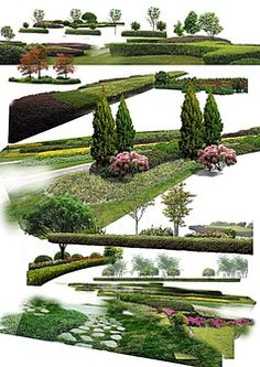 公园绿地园林建设psd素材